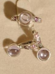 Тет-а-тет (кольцо + серьги из серебра)