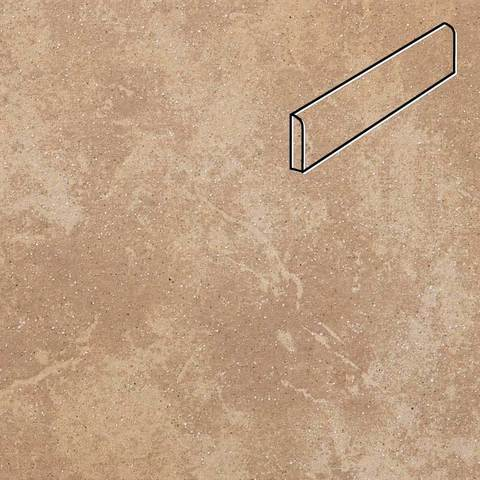Stroeher - Keraplatte Roccia 835 sandos 294х73х8 артикул 8108 - Клинкерный плинтус