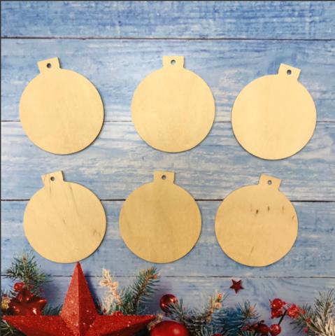 056-8100 Набор (6 шт.) деревянных подвесок