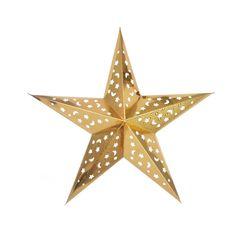 Звезда бумажная 60 см голографическая золотая