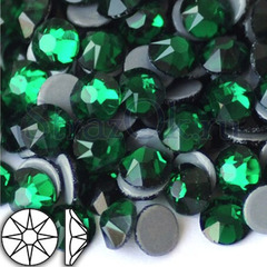 Стразы горячей фиксации купить оптом Xirius 8+8 Emerald зеленые