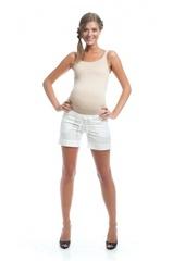 Шорты для беременных цвет белый