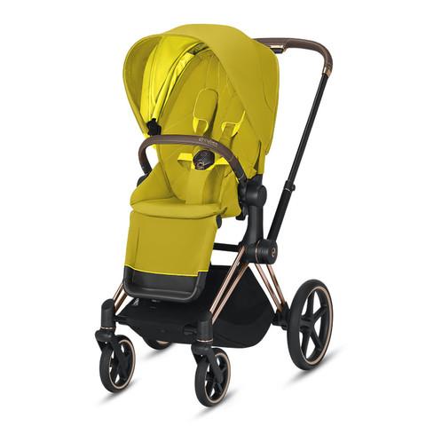 Прогулочная коляска Cybex Priam III Mustard Yellow Rosegold