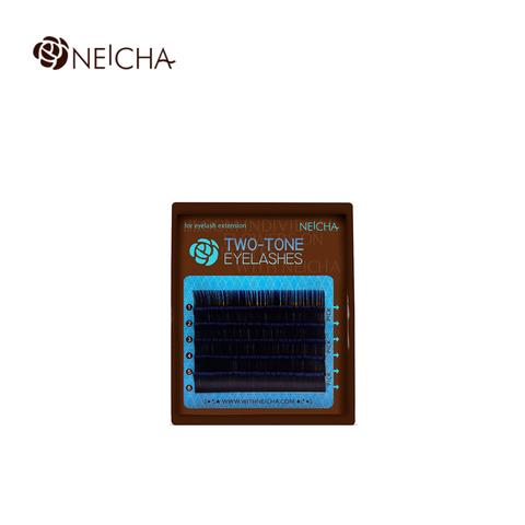 Ресницы NEICHA нейша MIX 6 линий двухцветные черно-синие