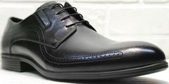 Модние туфли броги мужские Ikoc 3416-1 Black Leather.