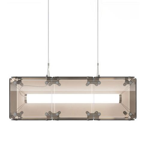 Подвесной светильник копия Hyperqube by Felix Monza (3 плафона, янтарный)