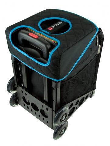 Мягкое двухстороннее сиденье (голубое/черное)