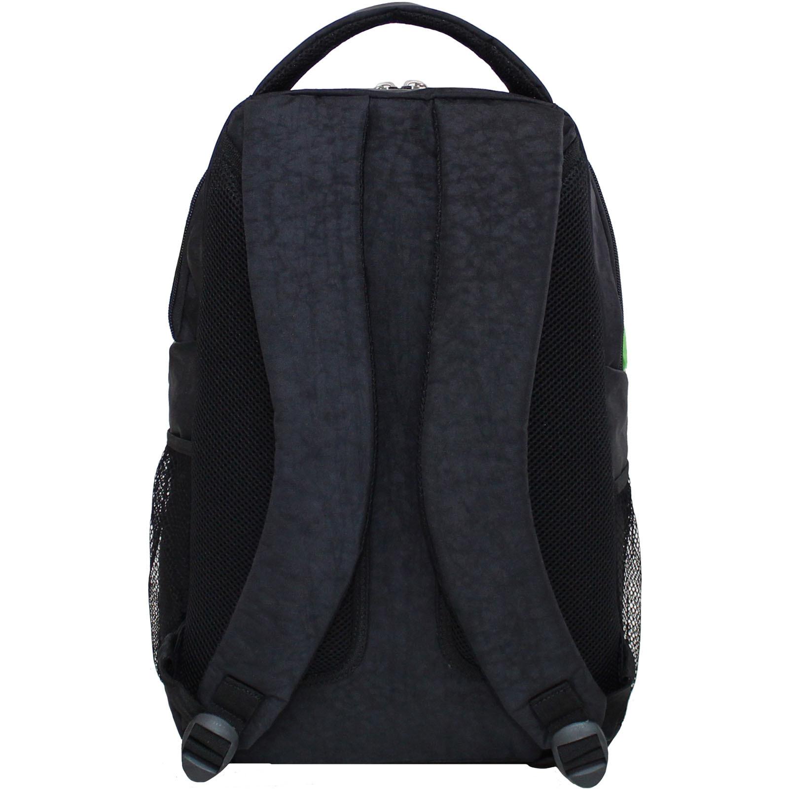Рюкзак Bagland Бис 21 л. Чёрный / салатовый (0055670)