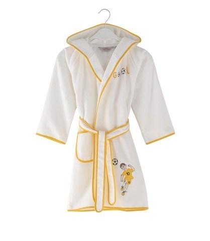 Детский махровый халат FOOTBALLER 128 жёлтый