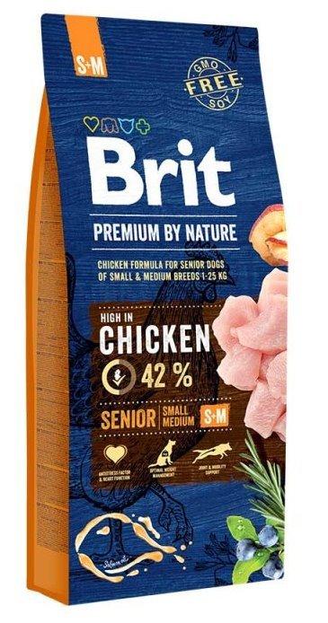 Brit Корм для пожилых собак мелких и средних пород, Brit Premium By Nature Senior S+M сеньер_с_м_15кг.jpg