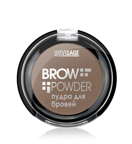LuxVisage Пудра для бровей  Brow powder тон 1 (light taupe) 1.7г