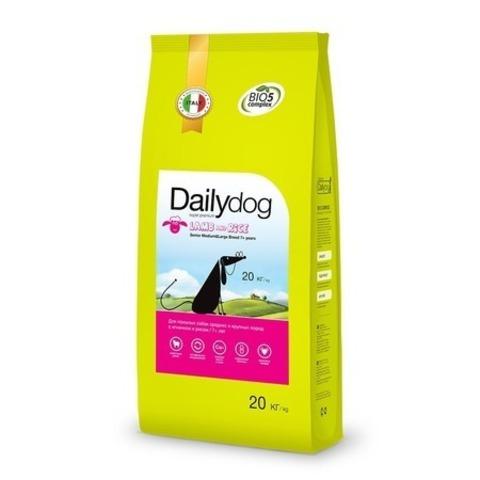 Сухой корм Dailydog Senior Medium Large Breed Lamb and Rice для пожилых собак средних и крупных пород с ягненком и рисом, 20 кг.