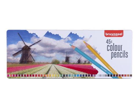 Набор цветных карандашей 'Holland' 45 цветов в металлической упаковке