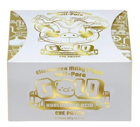 Гидрогелевые патчи для глаз с золотом и гиалуроновой кислотой Elizavecca Milky Piggy Hell-pore Gold Hyaluronic Acid Eye Patch