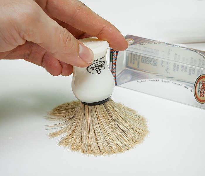 RAZ504 Помазок для бритья «OMEGA» с кистью из щетина кабана фото 06