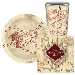 Harry Potter Mischief Managed Paper Party Set
