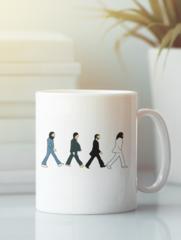 Кружка с изображением Битлз (The Beatles) белая 0010