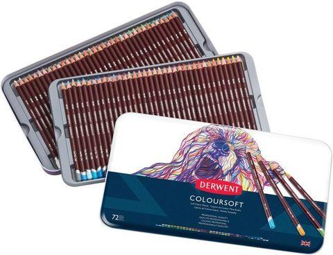 Набор цветных карандашей Coloursoft 72цв в метал.упак