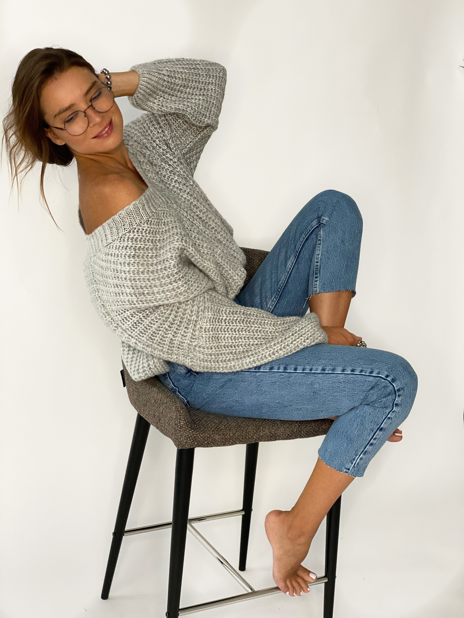 Пуловер, Pola, Twiggy (светло-серый)