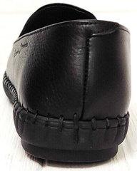 Стиля smart casual стильные туфли мокасины мужские кожа Broni M36-01 Black.