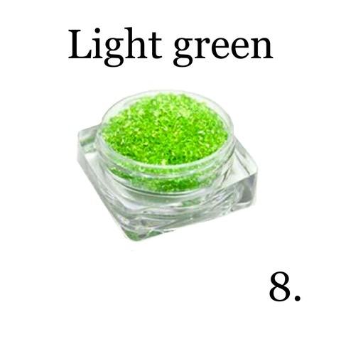 Хрустальная крошка(мелкая) зеленая 8 купить за 350руб
