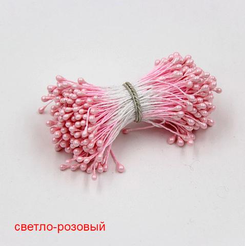 Тычинки для цветов двухсторонние, набор 10 шт., светло-розовый