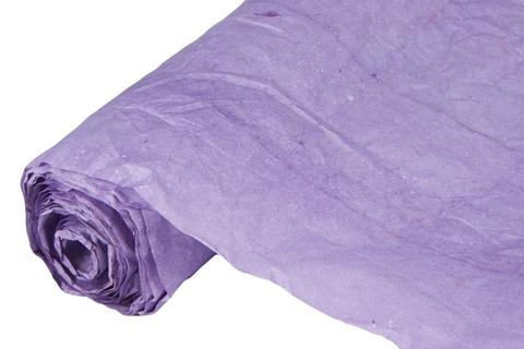 Бумага жатая эколюкс 70см х 5м сиреневая 27