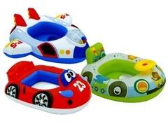 Intex Надувной круг для малышей, 3 вида в ассортименте (Лодка/Машина/Самолет) (22164)