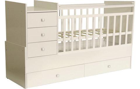 Кровать детская Фея 1000 слоновая кость