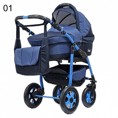 Детская коляска FENIX PCOF (3 в 1) (BartPlast) синий джинс 01