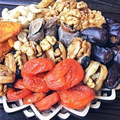 Подарочная корзина орехов и сухофруктов, 1,1 кг, №7