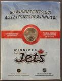 K9269 Канада 50 центов 2011 2012 Хоккей НХЛ Хоккейный клуб Виннипег Джетс UNC буклет