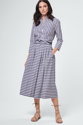 WINDSOR Платье-миди в полоску