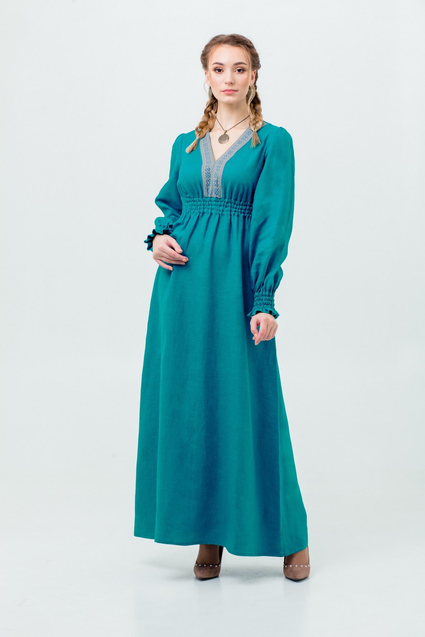 Нарядное платье славянское Лунный свет
