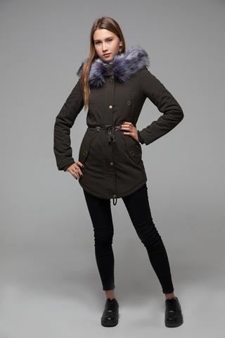 Куртка парка с меховым капюшоном купить