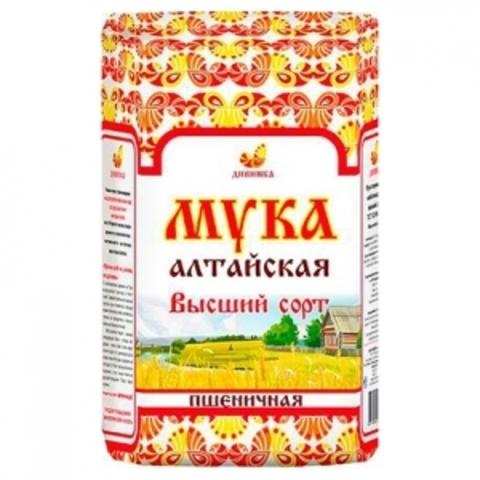 Мука Алтайская пшеничная в/с, 2 кг. (Дивинка)
