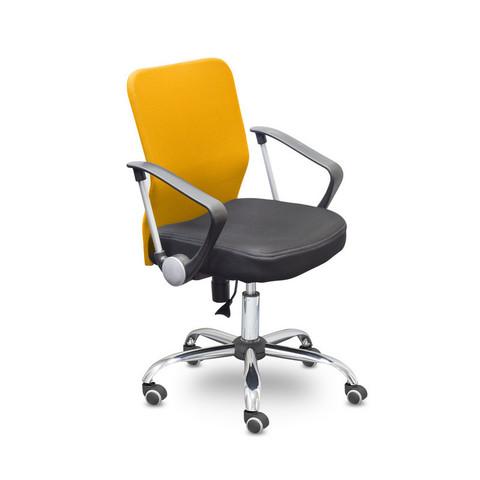 Кресло офисное Easy Chair 203 черное/оранжевое (ткань/сетка/пластик/металл)