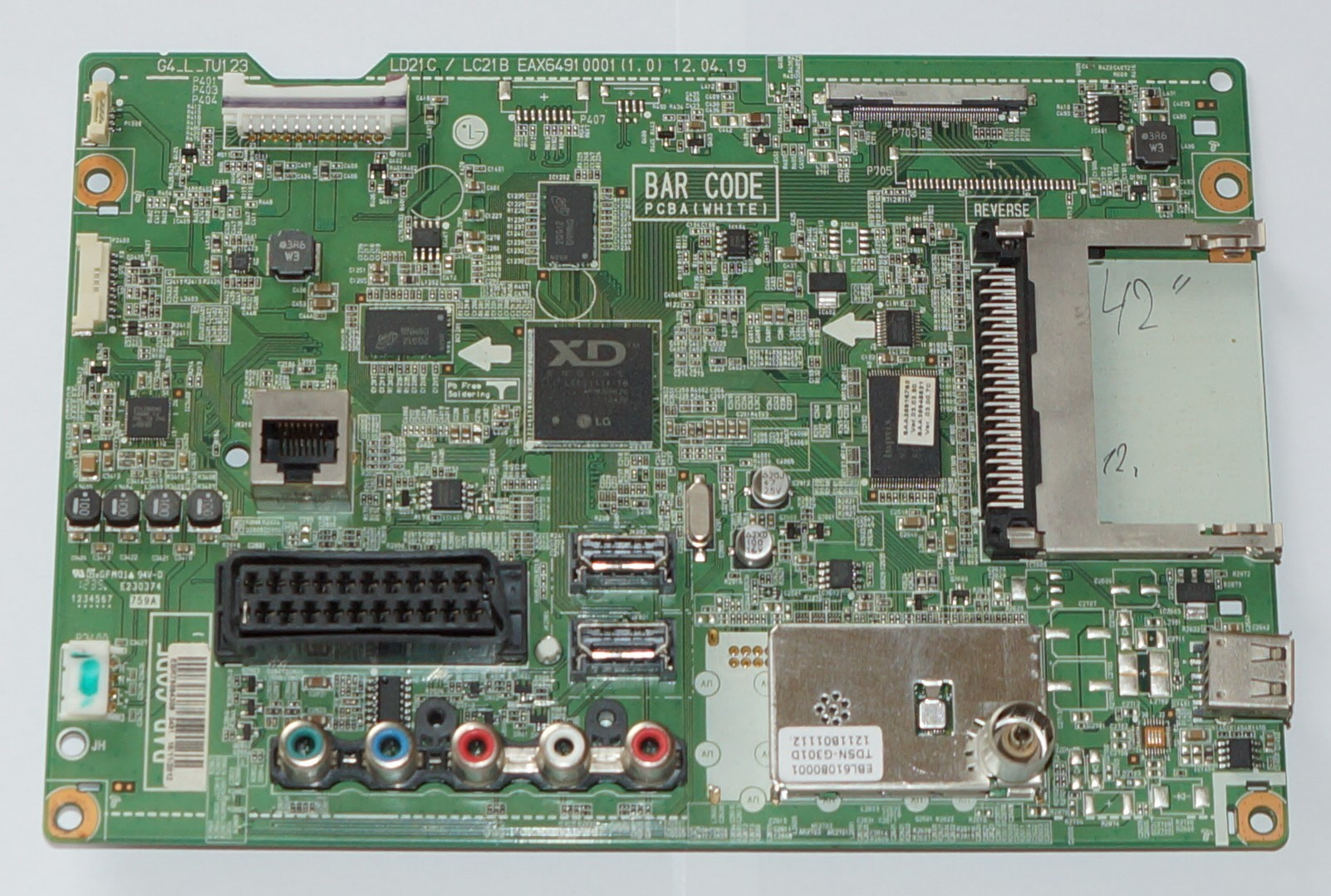Mainboard EAX64910001(1.0) EBR75084309 телевизора LG