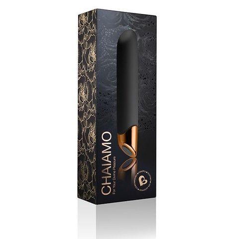 Черный вибратор Chaiamo - 16 см.