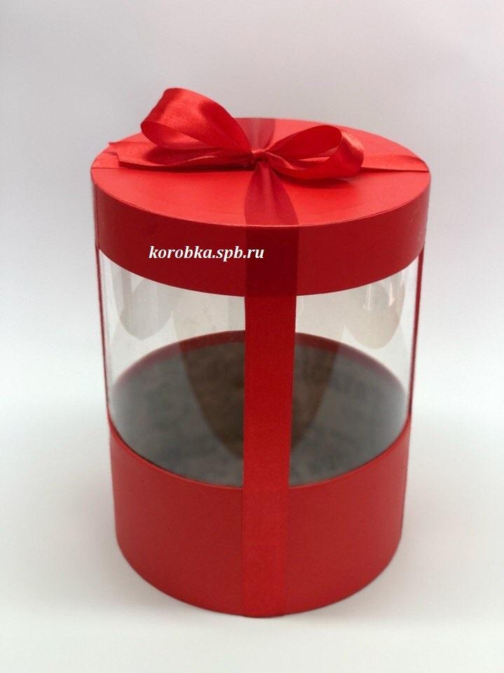 Коробка аквариум 20 см Цвет : Красный  . Розница 400 рублей .