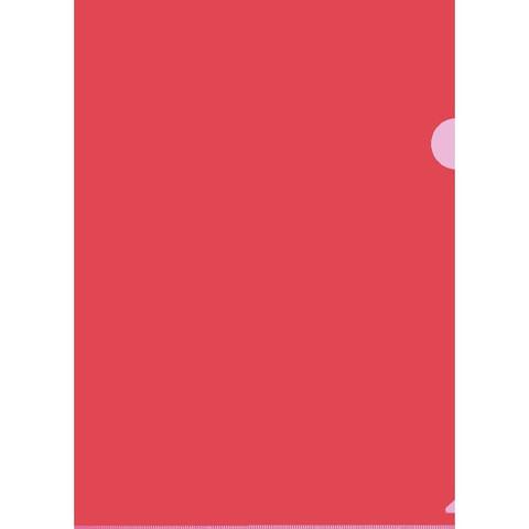 Папка-уголок Attache Economy A4 красная 100 мкм (10 штук в упаковке)