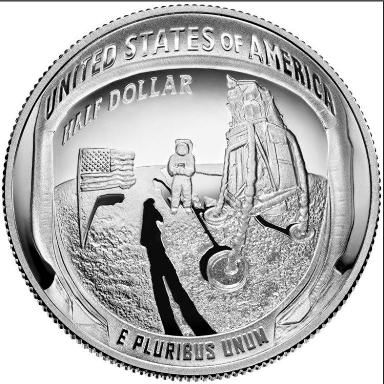 50 центов США - Аполлон 11. 2019 год. PROOF