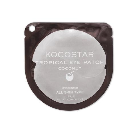 KOCOSTAR | Гидрогелевые патчи для глаз Тропические фрукты (2 патча/1 пара) (Кокос) / Tropical eye patch Coconut, (3 г)