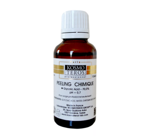 Гликолевый пилинг/ Peeling Chimique Glycolic Acid - 70%, (pH - 0,7) Kosmoteros, 30 мл