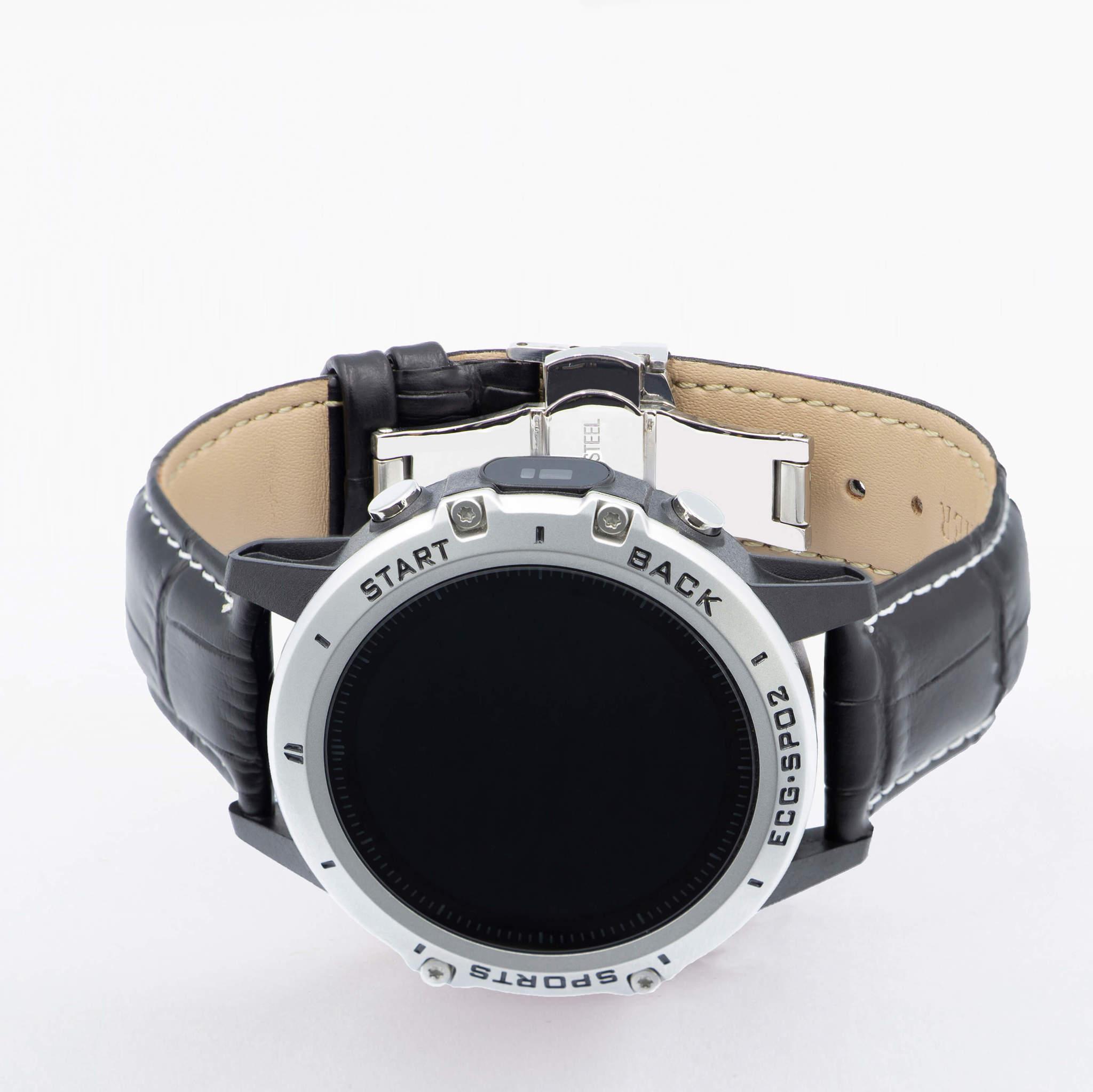 Часы здоровья с измерением кислорода (сатурации), давления, снятием ЭКГ и круглосуточным мониторингом пульса Dr.Hofner DH50 (матово-чёрный)