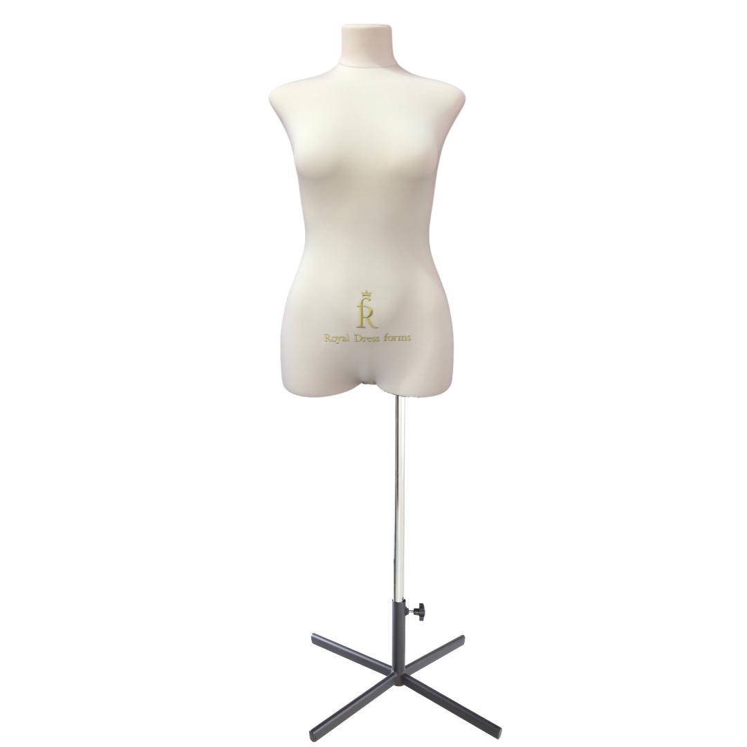 Манекен портновский Кристина, комплект Премиум, размер 44, тип фигуры Прямоугольник, бежевыйФото 1