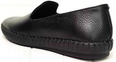 Стиль смарт кэжуал осенние слипоны туфли кожаные мужские Broni M36-01 Black.