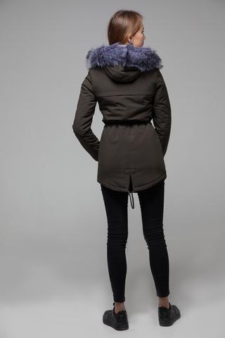 Куртка парка с меховым капюшоном магазин