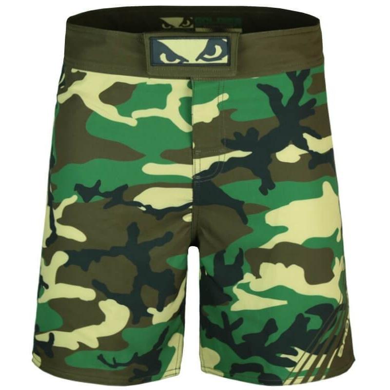 Шорты Шорты Bad Boy Soldier MMA Shorts - Green Camo Шорты_Bad_Boy_Soldier_MMA_Shorts_-_Green_Camo.jpg