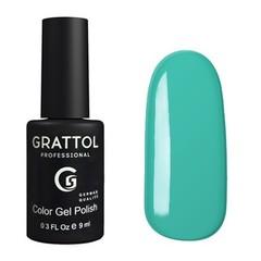 Grattol, Гель-лак 061, Light Turquoise, 9 мл